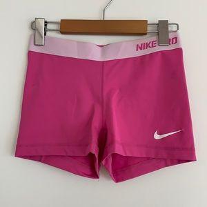 "Nike Dri-Fit Pro 3"" Shorts Spandex Pink SzS"
